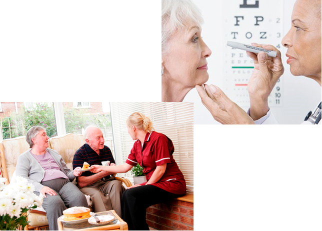 Image result for elderly getting eye exam